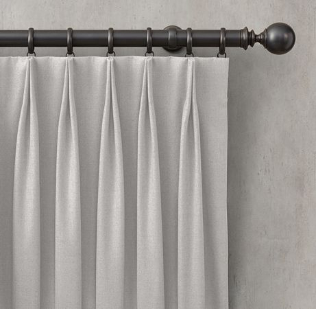 Top Tack Pinch Pleat | Curtains In 2019 | Drapery Panels Within Double Pinch Pleat Top Curtain Panel Pairs (Image 24 of 25)