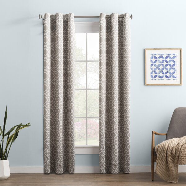 Trellis Blackout Curtains | Wayfair Intended For Davis Patio Grommet Top Single Curtain Panels (Image 22 of 25)