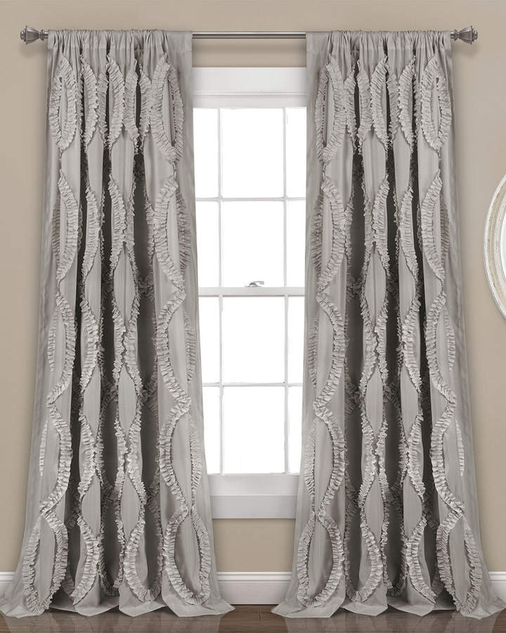 Triangle Home Fashion Avon Window Curtain Panel | Products With The Gray Barn Gila Curtain Panel Pairs (Image 21 of 25)