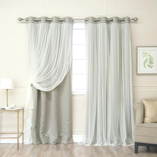 Tulle Blackout Curtains – Jelajah Within Star Punch Tulle Overlay Blackout Curtain Panel Pairs (View 24 of 25)