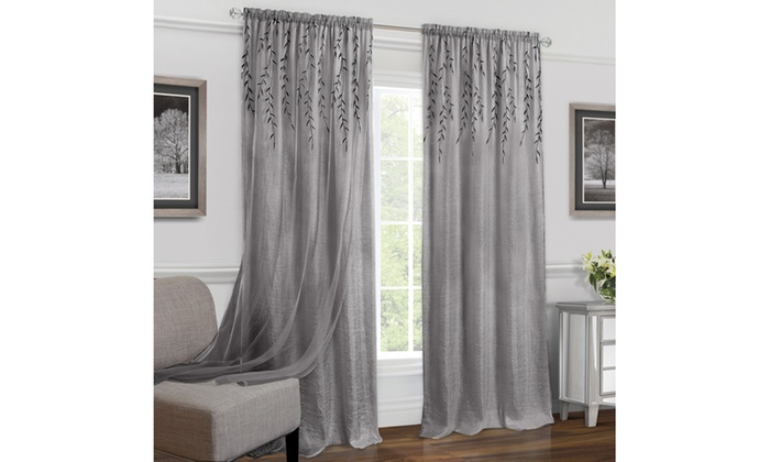Up To 31% Off On Rod Pocket Window Curtain Panel | Groupon Goods For Willow Rod Pocket Window Curtain Panels (View 3 of 25)