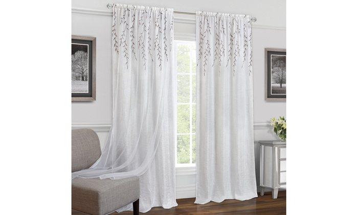 Up To 31% Off On Rod Pocket Window Curtain Panel | Groupon Goods Throughout Willow Rod Pocket Window Curtain Panels (View 7 of 25)
