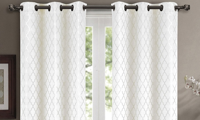 Up To 80% Off On Pair ( Set Of 2) Willow Therm   Groupon Inside Thermal Insulated Blackout Curtain Pairs (View 5 of 25)