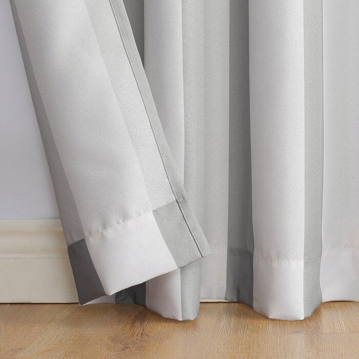 Valencia Uv Protectant Cabana Striped Room Darkening Indoor/outdoor Grommet  Single Curtain Panel With Valencia Cabana Stripe Indoor/outdoor Curtain Panels (Photo 3 of 25)
