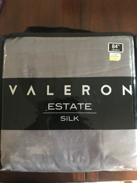 Valeron Estate 84 Inch Silk Window Curtain Panel In Taupe Inside Grainger Buffalo Check Blackout Window Curtains (Photo 21 of 25)