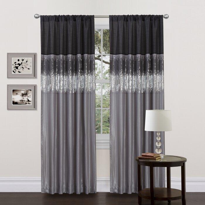 Valor Light Filtering Semi Sheer Rod Pocket Single Curtain Panel With Light Filtering Sheer Single Curtain Panels (Photo 1 of 25)