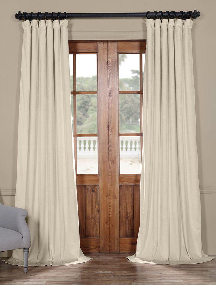 Vanilla Heritage Plush Velvet Curtain | Heritage Plush Intended For Heritage Plush Velvet Curtains (Image 23 of 25)