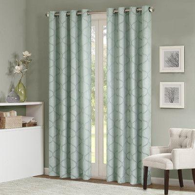 Varick Gallery Annalie Window Light Filtering Single Curtain For Light Filtering Sheer Single Curtain Panels (Photo 21 of 25)
