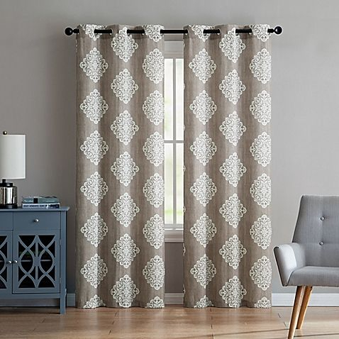 Vcny Aria Window Curtain Panel Pair | Modern Family Home In Within Caldwell Curtain Panel Pairs (Photo 5 of 25)