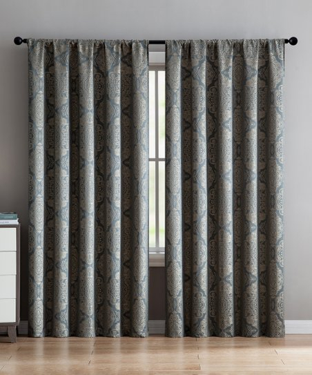 Vcny Home Gray Floral Ella Curtain Panel | Zulily In Ella Window Curtain Panels (Photo 4 of 25)