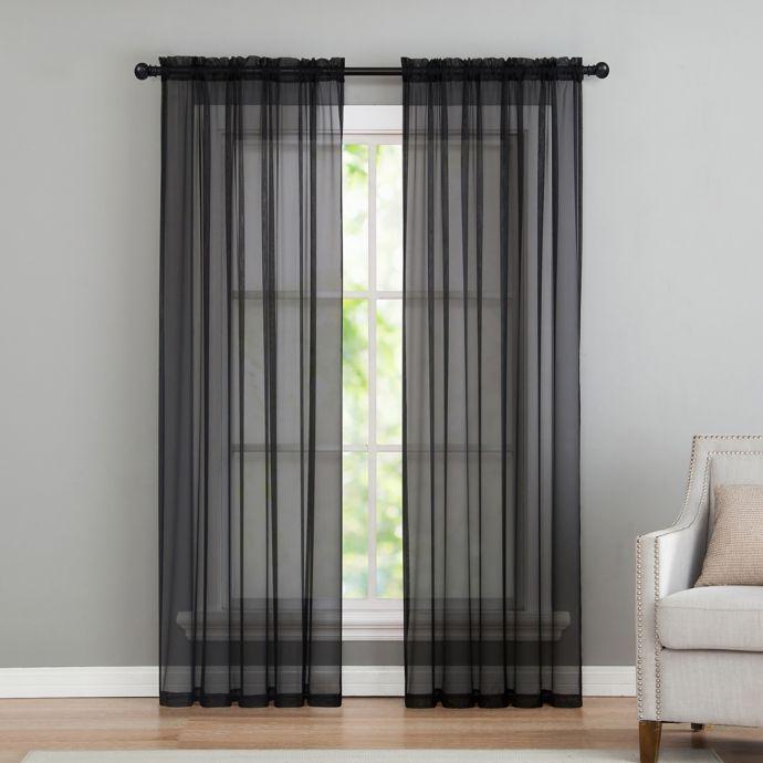 Vcny Home Infinity Sheer Rod Pocket Window Curtain Panel In Infinity Sheer Rod Pocket Curtain Panels (Photo 4 of 25)