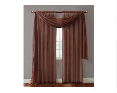 Vcny Home Infinity Sheer Rod Pocket Window Curtain Single With Regard To Infinity Sheer Rod Pocket Curtain Panels (Photo 11 of 25)