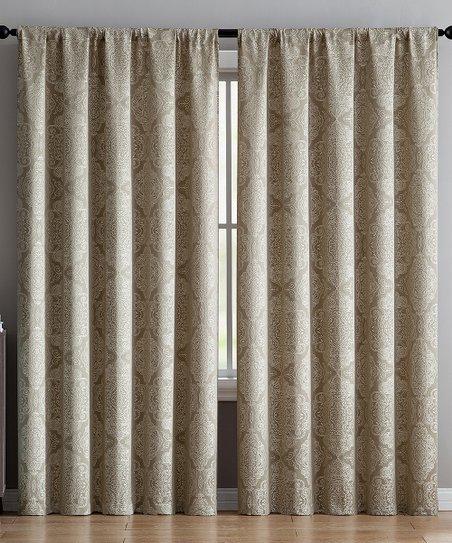 Vcny Home Taupe Ella Curtain Panel Inside Ella Window Curtain Panels (Photo 10 of 25)