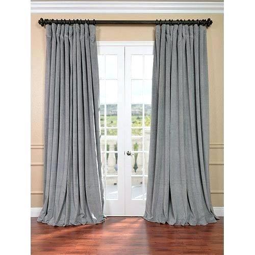 Velvet Blackout Curtains 108 – Dreamns Inside Signature Ivory Velvet Blackout Single Curtain Panels (Photo 14 of 25)