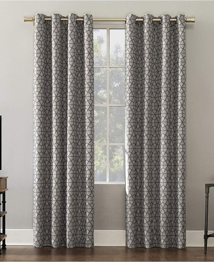 Verve 52 X 84 Mosaic Print Blackout Curtain Panel | Products Pertaining To Geometric Print Textured Thermal Insulated Grommet Curtain Panels (Photo 10 of 25)