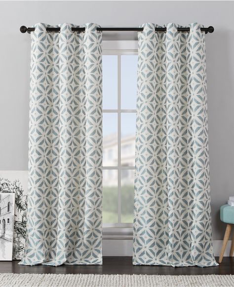 Victoria Classics Dalton Ikat Panel Pairs – Window Inside Essentials Almaden Fretwork Printed Grommet Top Curtain Panel Pairs (Photo 19 of 25)