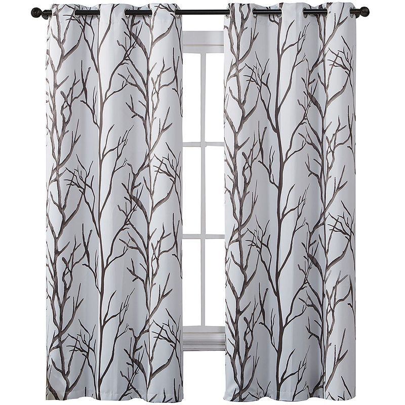 Victoria Classics Kingdom Print Blackout Grommet Top Curtain With Keyes Blackout Single Curtain Panels (Photo 7 of 25)