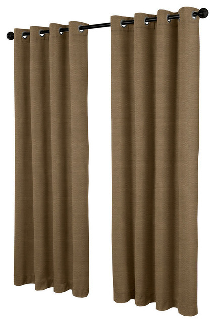 Villamora Textured Linen Look Grommet Top Curtain Panels, Cappucino, Set Of  2 Regarding Oakdale Textured Linen Sheer Grommet Top Curtain Panel Pairs (Photo 16 of 27)