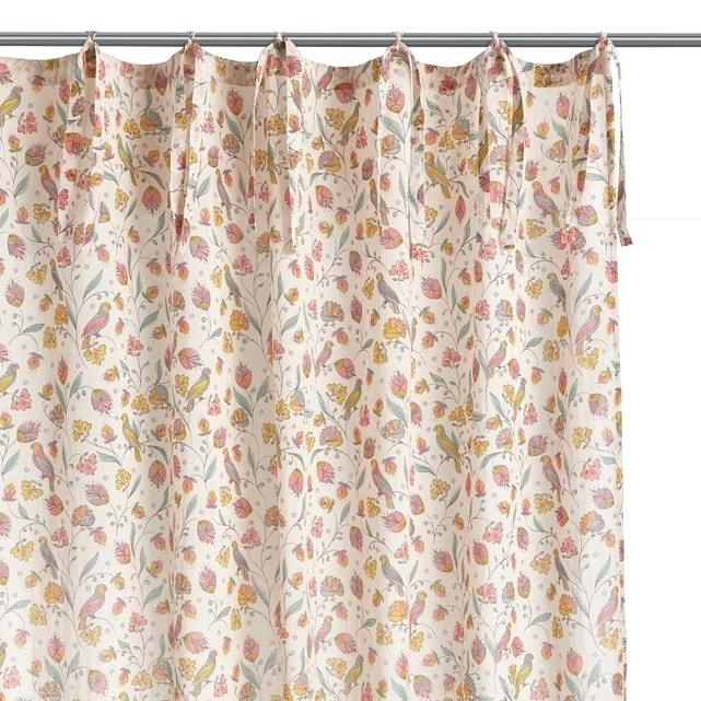 Voile Curtain Panel – Luketucker.co With Regard To Andorra Watercolor Floral Textured Sheer Single Curtain Panels (Photo 17 of 25)
