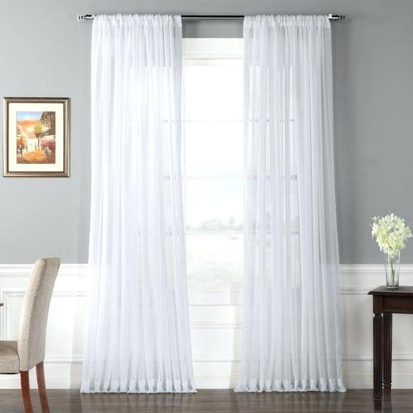 Voile Sheer Curtains – Unitedthread.co In Erica Sheer Crushed Voile Single Curtain Panels (Photo 17 of 25)