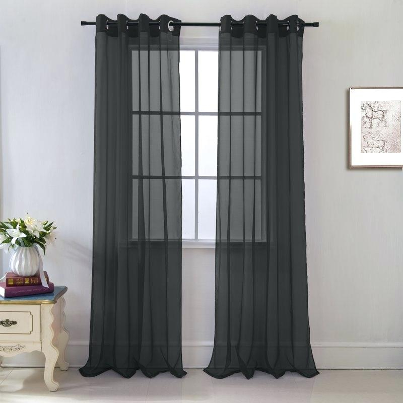 Voile Sheer Curtains – Unitedthread.co Intended For Erica Crushed Sheer Voile Grommet Curtain Panels (Photo 23 of 25)