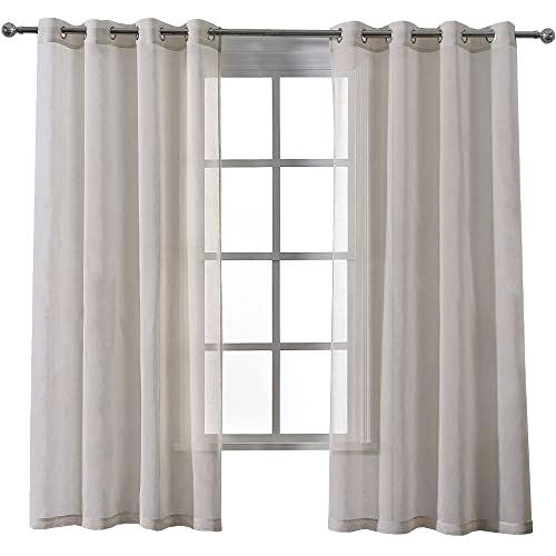 Voile Sheer Curtains – Unitedthread.co Throughout Emily Sheer Voile Grommet Curtain Panels (Photo 21 of 25)