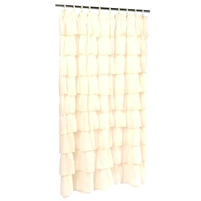 Voile Shower Curtain – Ervelab.co In Sheer Voile Waterfall Ruffled Tier Single Curtain Panels (Photo 17 of 25)