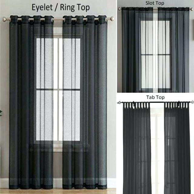 Voile Tab Top Curtains – Donnadesigns.co Throughout Elowen White Twist Tab Voile Sheer Curtain Panel Pairs (Photo 5 of 26)