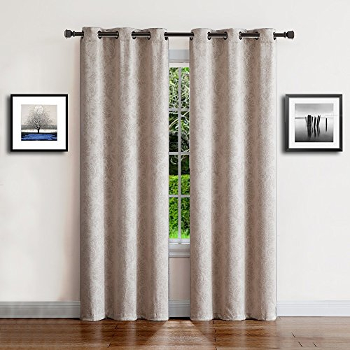 Warm Home Designs 1 Pair (2 Panels) Of Ivory Beige Insulated Throughout Thermal Insulated Blackout Grommet Top Curtain Panel Pairs (View 22 of 25)
