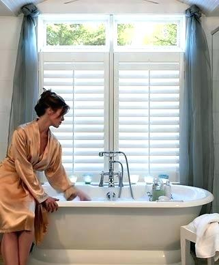 Water Repellent Bathroom Window Curtains – Cloudconsult With Classic Hotel Quality Water Resistant Fabric Curtains Set With Tiebacks (View 7 of 25)
