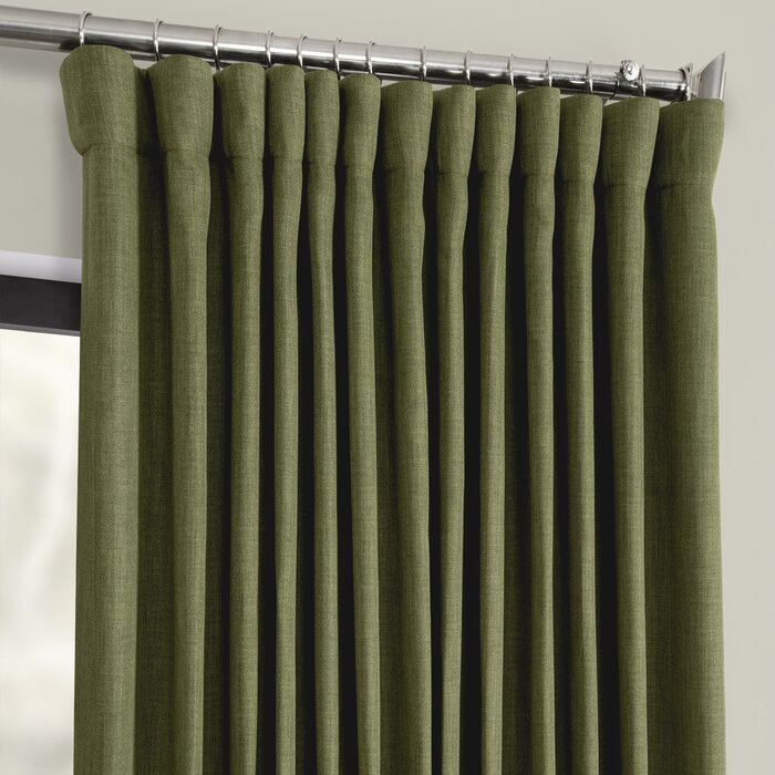 Featured Image of Faux Linen Extra Wide Blackout Curtains