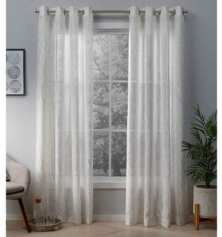 White Grommet Window Curtains – Shopstyle With Regard To Delano Indoor/outdoor Grommet Top Curtain Panel Pairs (Image 25 of 25)