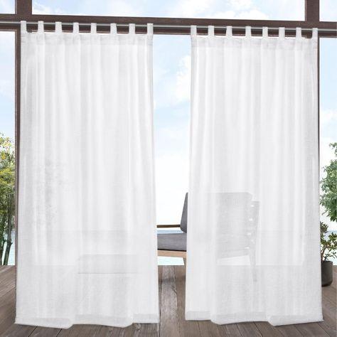 White Striped Jute Sahaj Tab Top Curtains Set Of 2 – Cotton In Jacob Tab Top Single Curtain Panels (Image 22 of 25)
