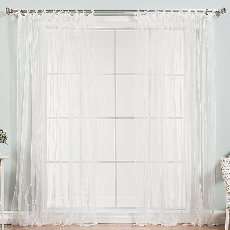 White Tab Top Curtains | Fortune Interior Regarding Jacob Tab Top Single Curtain Panels (Image 24 of 25)