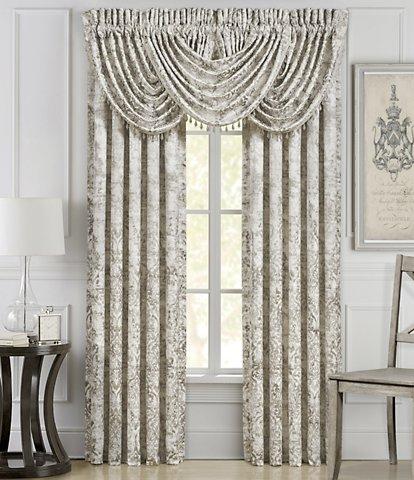 Window Treatments | Dillard's Pertaining To Velvet Dream Silver Curtain Panel Pairs (Image 25 of 25)