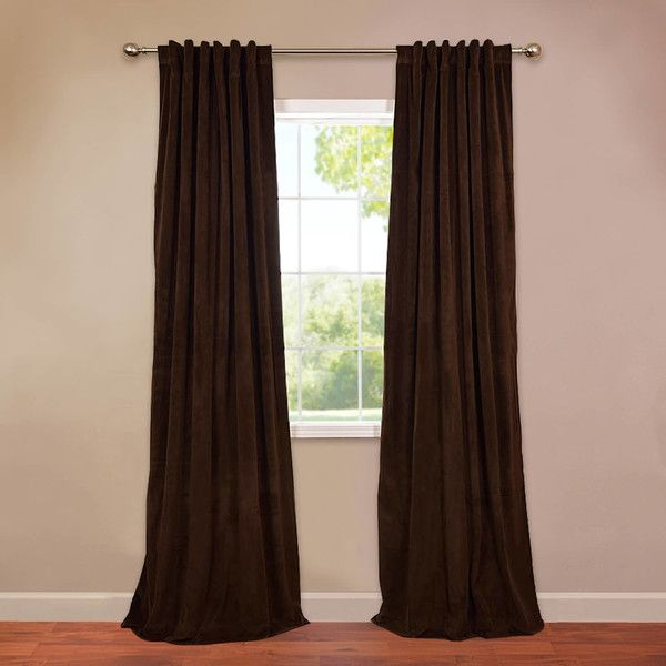 You'll Love The Thalia Velvet Blackout Single Curtain Panel Pertaining To Warm Black Velvet Single Blackout Curtain Panels (View 11 of 25)