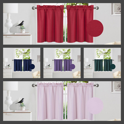 1 Pair Kitchen Rod Pocket Window Tier Curtain Insulated Within Rod Pocket Kitchen Tiers (View 23 of 25)