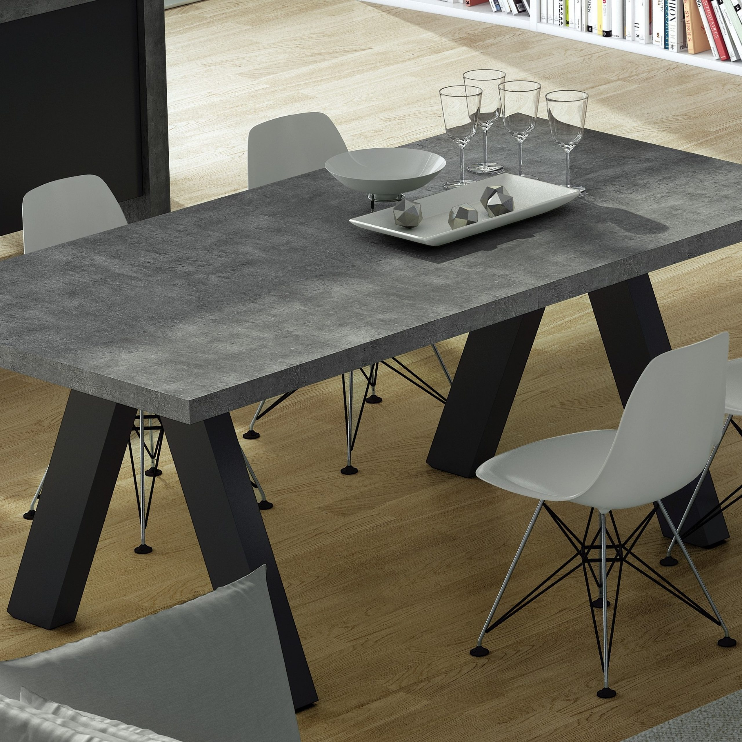 100+ [ Extending Dining Table ] | 30 Extendable Dining Within Most Up To Date Blackened Oak Benchwright Extending Dining Tables (View 20 of 25)