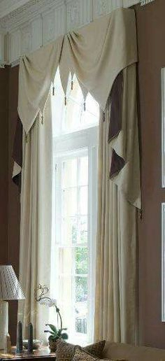 13 Best Window Treatments Images In 2019 | Window Treatments For Navy Vertical Ruffled Waterfall Valance And Curtain Tiers (View 23 of 25)