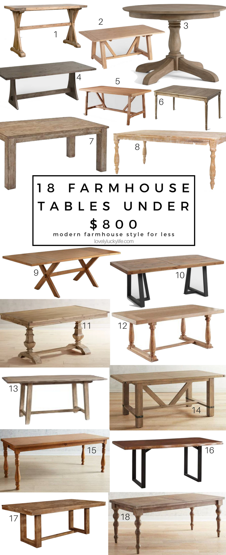 18 Of The Best Modern Farmhouse Tables Under $800 – Lovely Intended For Newest Modern Farmhouse Extending Dining Tables (View 3 of 25)