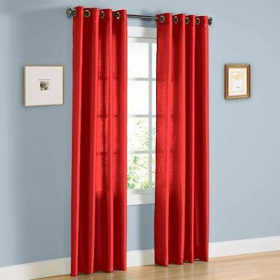 2 Faux Silk Window Panel Semi Sheer Curtain Drape Grommet In Micro Striped Semi Sheer Window Curtain Pieces (View 12 of 25)