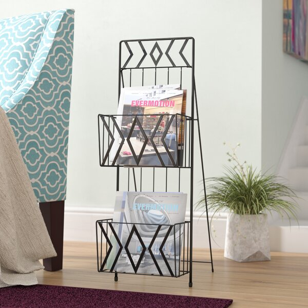 2 Tier Magazine Rack | Wayfair Intended For Cumberland Tier Pairs In Dove Gray (View 17 of 25)