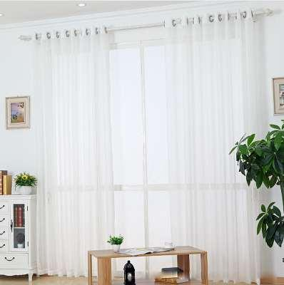 2019 White Sheer Tulle Curtain Striped Panel Window Treatment Stripe Curtain Shade Tulle Fabric Linen Rod Pocket Rings Tape Wp039 *30 From With Regard To Linen Stripe Rod Pocket Sheer Kitchen Tier Sets (View 6 of 25)
