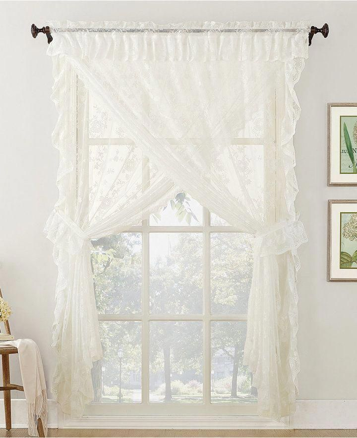 24 Gorgeous Tips And Hints For #sheercurtains Pertaining To White Tone On Tone Raised Microcheck Semisheer Window Curtain Pieces (Image 2 of 25)