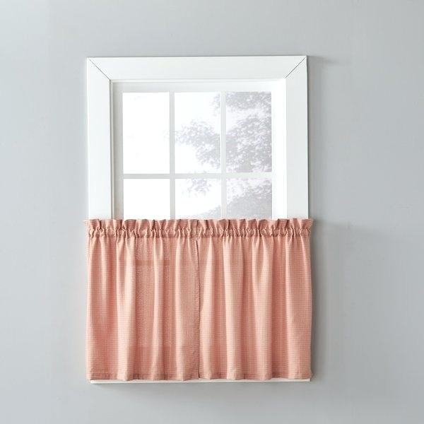 24 Inch Tier Curtains – Feriaespiritualmente Within Sheer Lace Elongated Kitchen Curtain Tier Pairs (View 11 of 25)