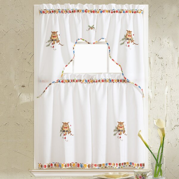 24 X 36 Curtains | Wayfair With Regard To Embroidered 'Coffee Cup' 5 Piece Kitchen Curtain Sets (View 20 of 25)
