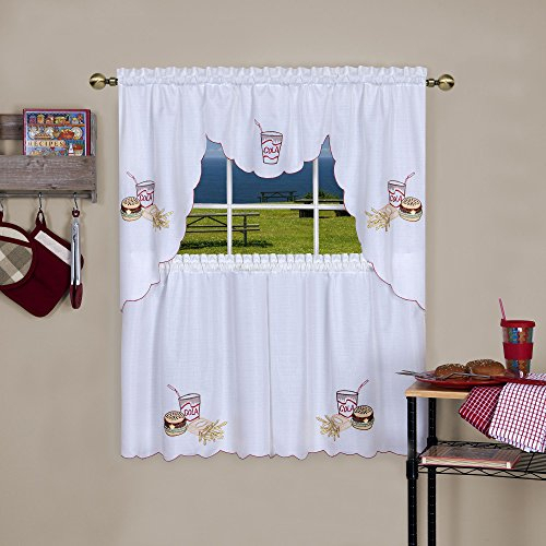 25 Greatest Swag Windows – Top Decor Tips Regarding Cotton Blend Ivy Floral Tier Curtain And Swag Sets (View 22 of 25)