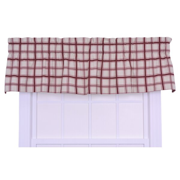 3 Inch Pocket Rod Valance | Wayfair Within Floral Watercolor Semi Sheer Rod Pocket Kitchen Curtain Valance And Tiers Sets (View 17 of 25)