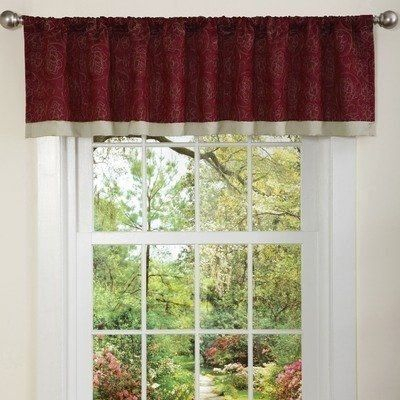 3 Inch Rod Pocket Valance – Maviswpdesign.live With Silver Vertical Ruffled Waterfall Valance And Curtain Tiers (Photo 11 of 25)