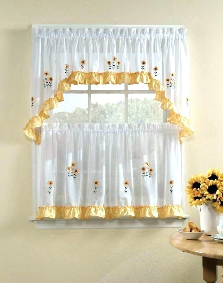 3 Piece Kitchen Curtain Set – Freddybeach.co With Lodge Plaid 3 Piece Kitchen Curtain Tier And Valance Sets (Photo 7 of 25)